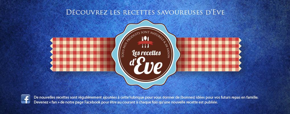 Les recettes d'Eve sur Facebook